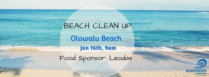 Olowalu Beach Cleanup January 16th