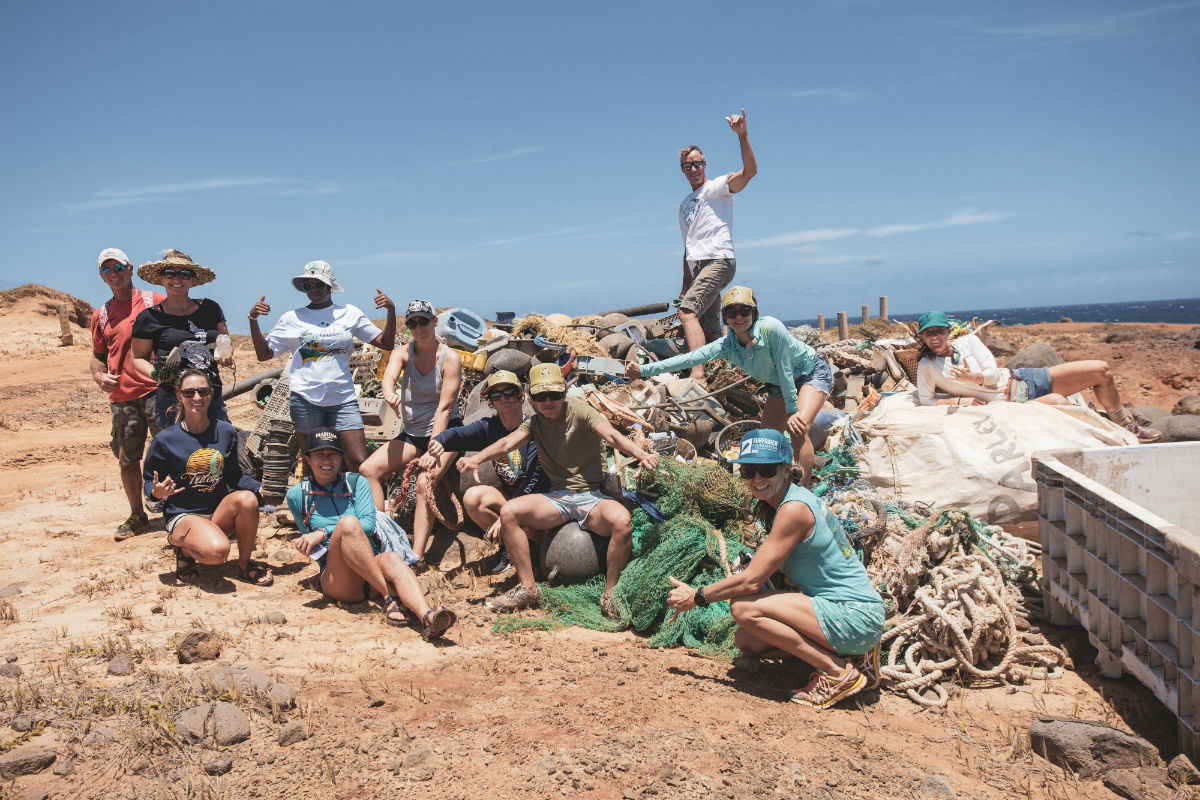 Moloka'i cleanup with Sustainable Coastlines