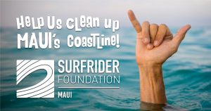 Windsurfing legend is giving away books and sunglasses to help clean up Maui's Coastline.